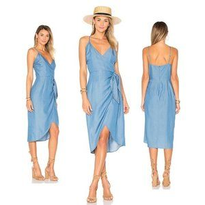 NWOT Lovers + Friends Orchid Chambray Midi Dress L